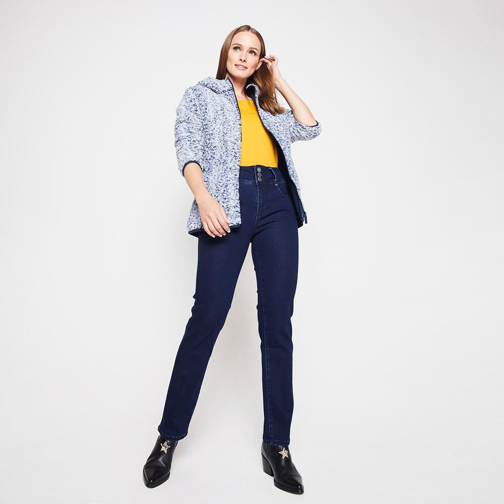 Jeans Mujer Tiro Alto Push Up Geeps image number 1.0