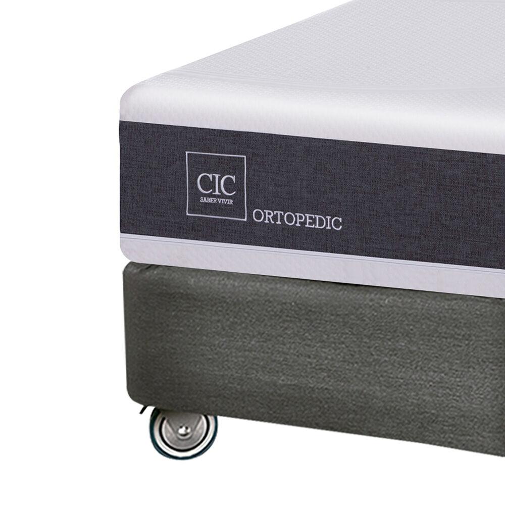 Box Spring Cic New Ortopedic / King / Base Dividida + Almohadas Viscoelásticas image number 2.0