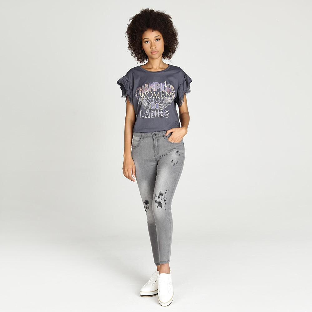 Jeans Mujer Tiro Alto Skinny Rolly go image number 1.0