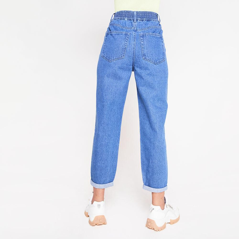 Jeans Tiro Alto Slouchy Mujer Rolly Go image number 2.0