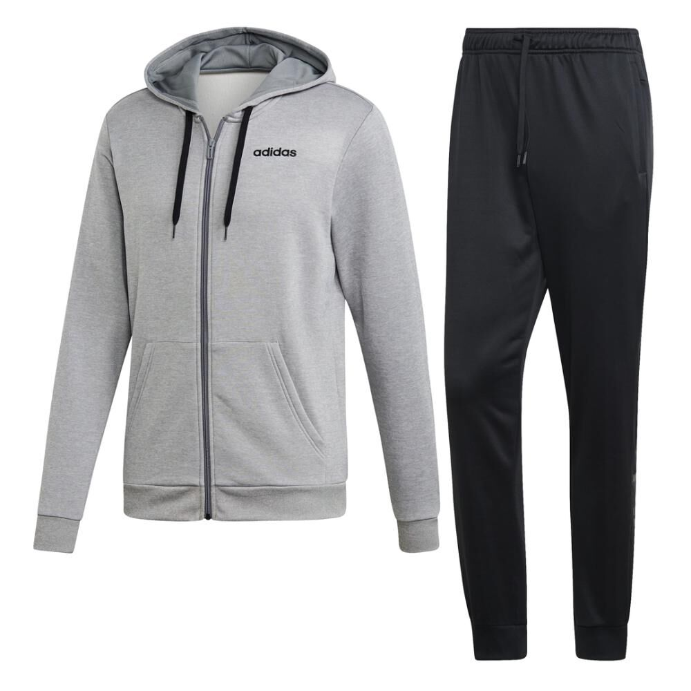 Buzo Con Capucha Hombre Adidas Linear French Terry image number 1.0