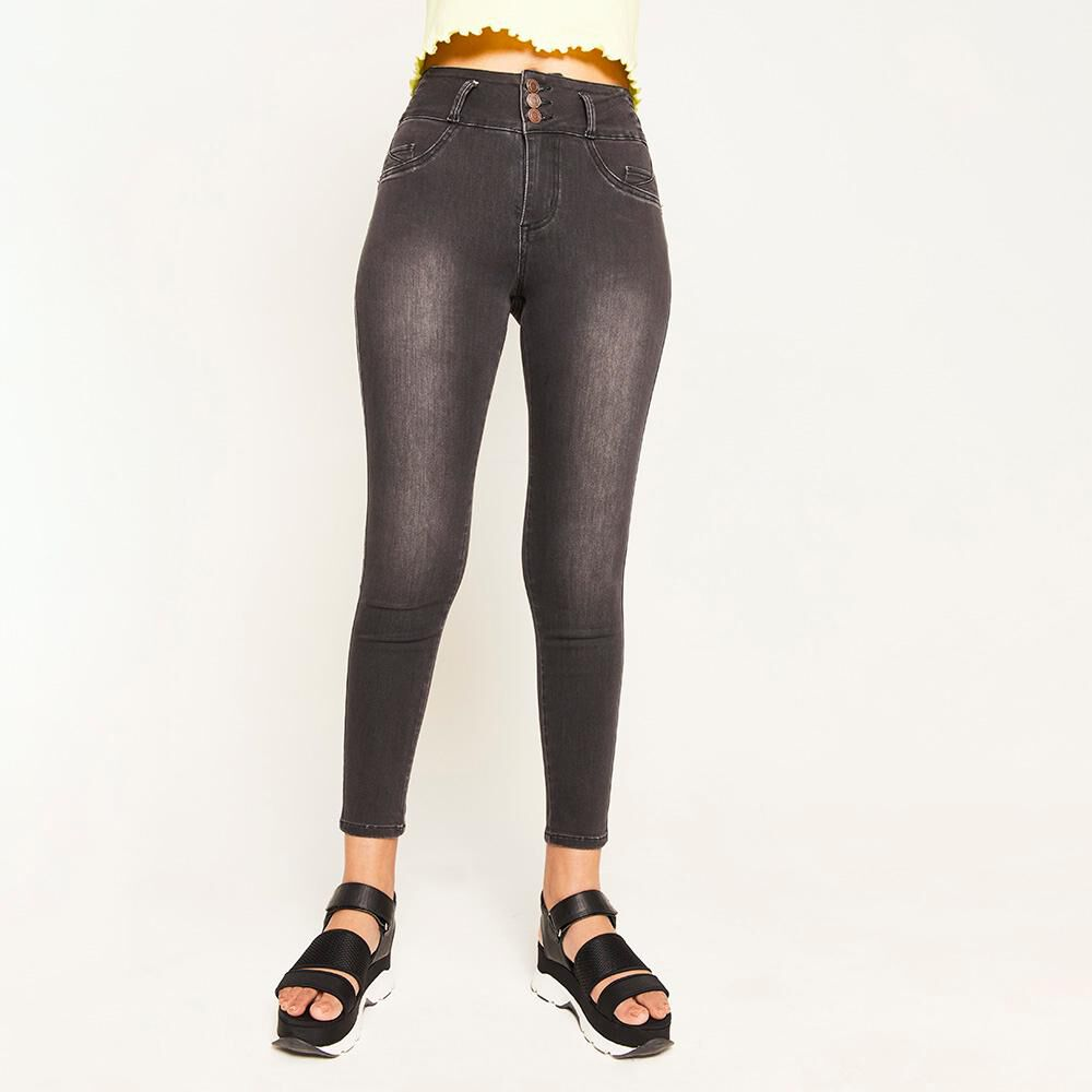 Jeans Pretina Alta Push Up Mujer Rolly Go image number 0.0