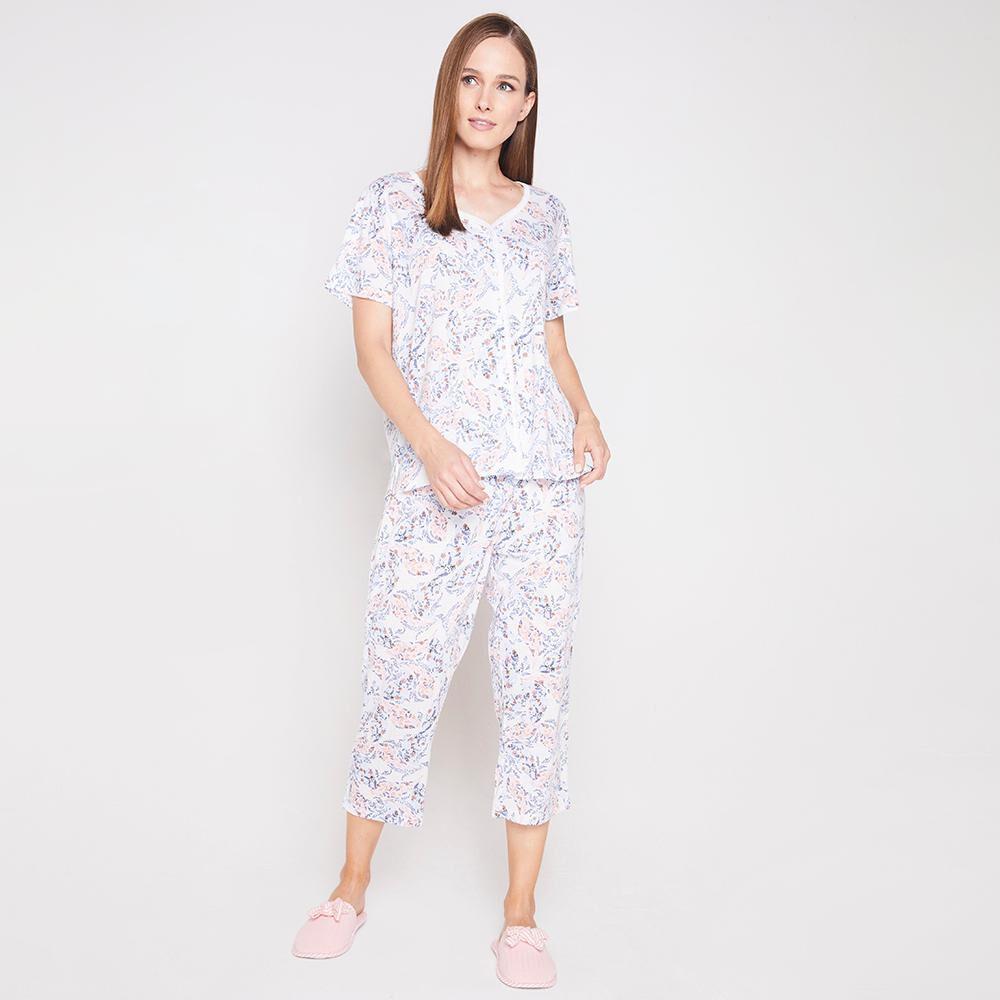Pijama Capri Algodón Mujer Lesage image number 1.0
