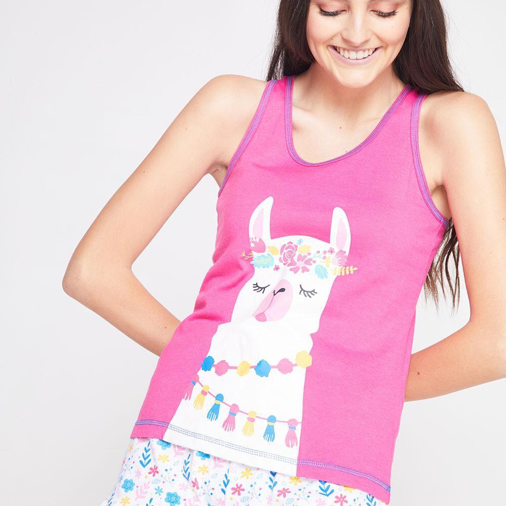 Pijama Musculosa Algodón Mujer Freedom image number 3.0
