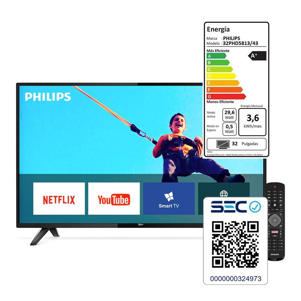 """Led Philips PHD5813 / 32 """" / Hd / Smart Tv image number 4.0"""