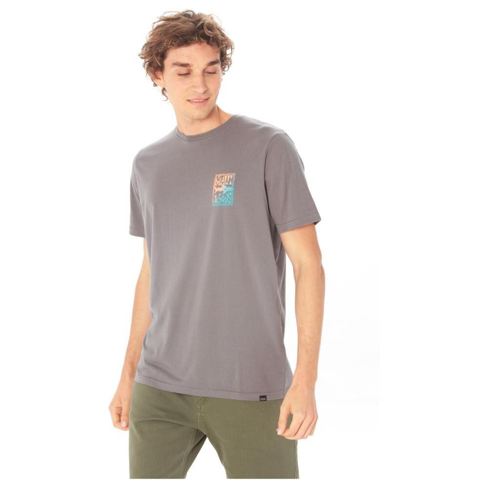 Polera Hombre Maui Liso Grey image number 0.0