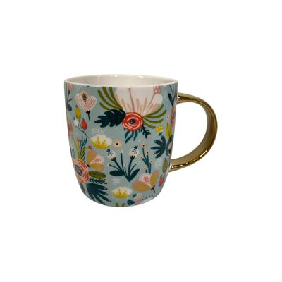 Mug Belle Noite Aqua Flower