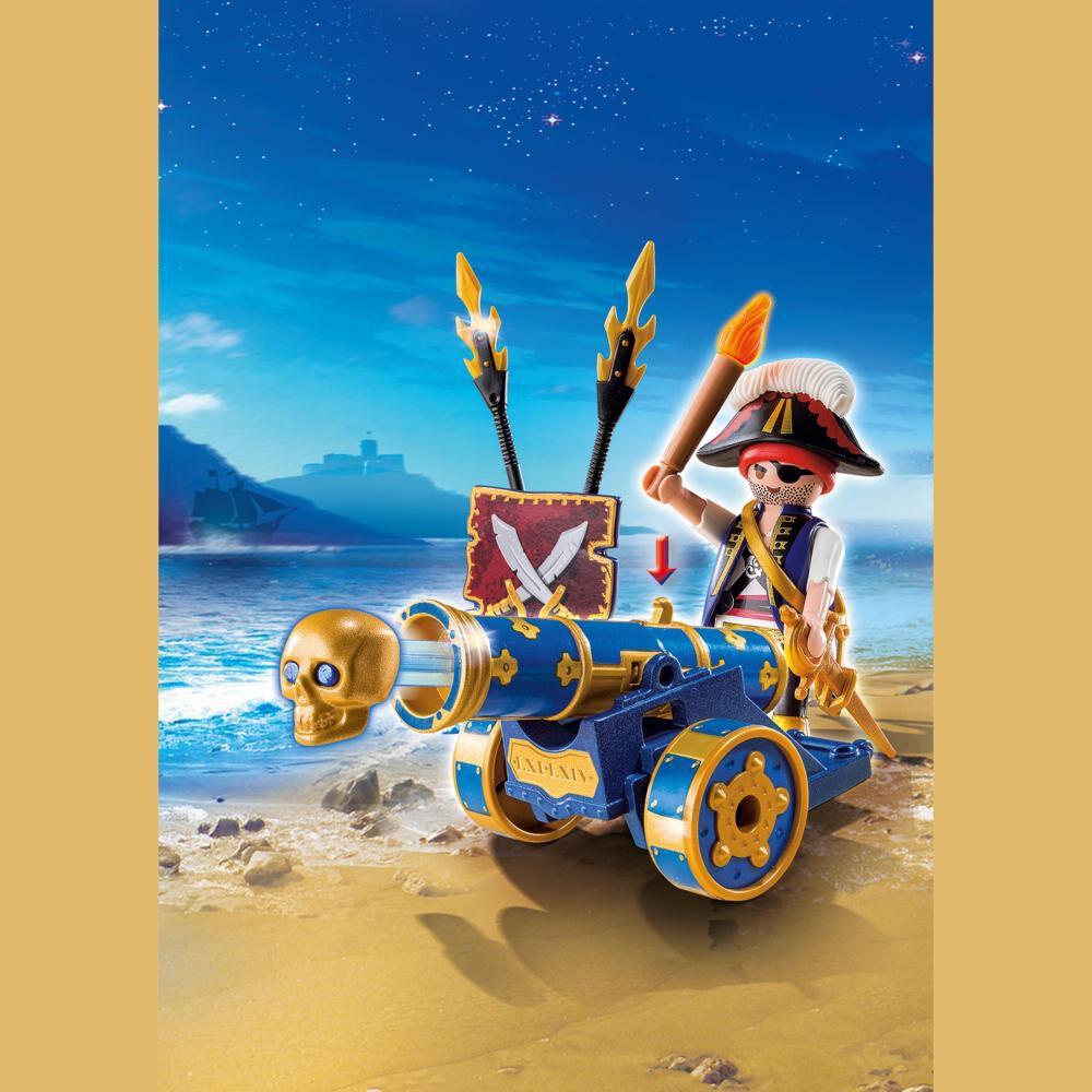 Figura De Acción Playmobil Cañón Interactivo Azul Con Pirata image number 5.0