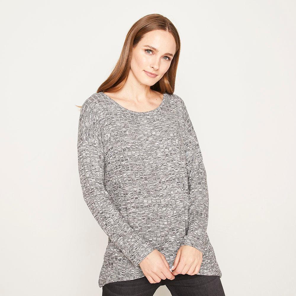 Sweater Melange Canuton Regular Fit Cuello Redondo Mujer Geeps image number 0.0