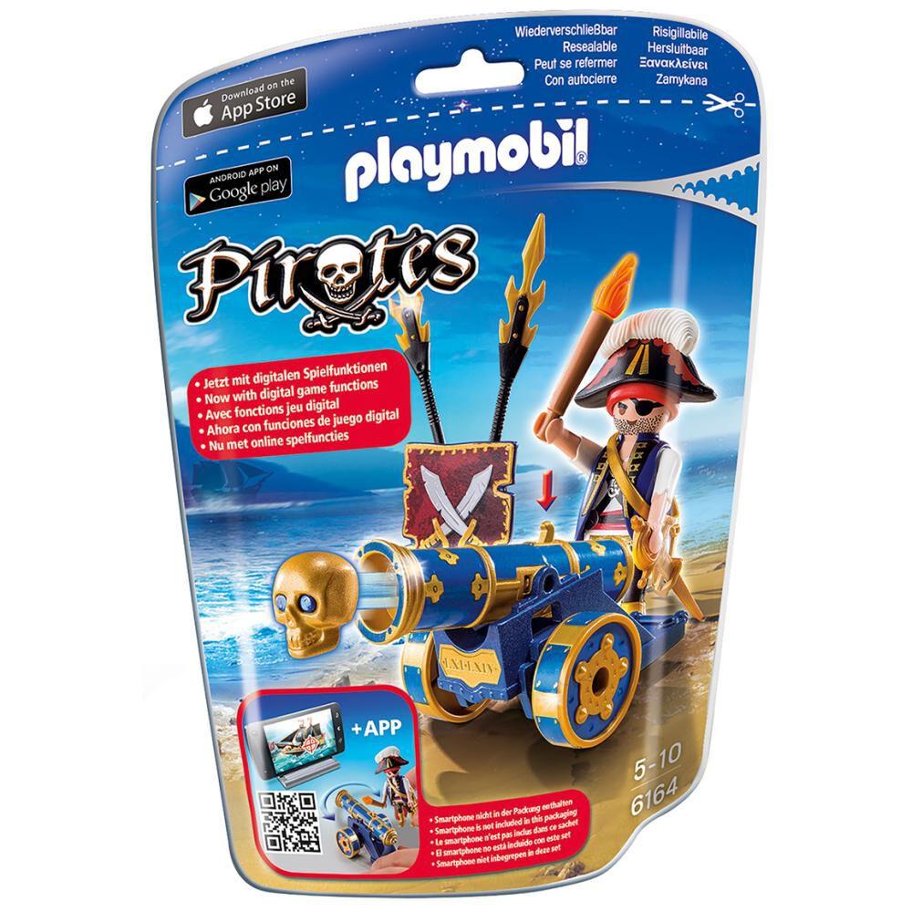 Figura De Acción Playmobil Cañón Interactivo Azul Con Pirata image number 2.0
