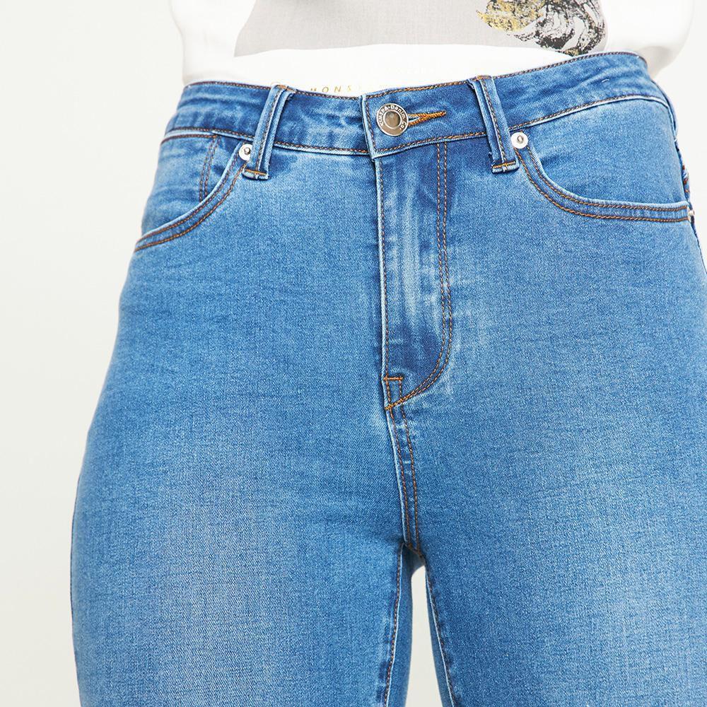 Jeans Tiro Medio Skinny Push Up Mujer Kimera image number 3.0