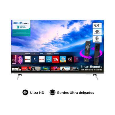 Led Philips 58PUD6654 / 58'' / 4K Ultra HD / Smart TV Bordes Ultradelgados