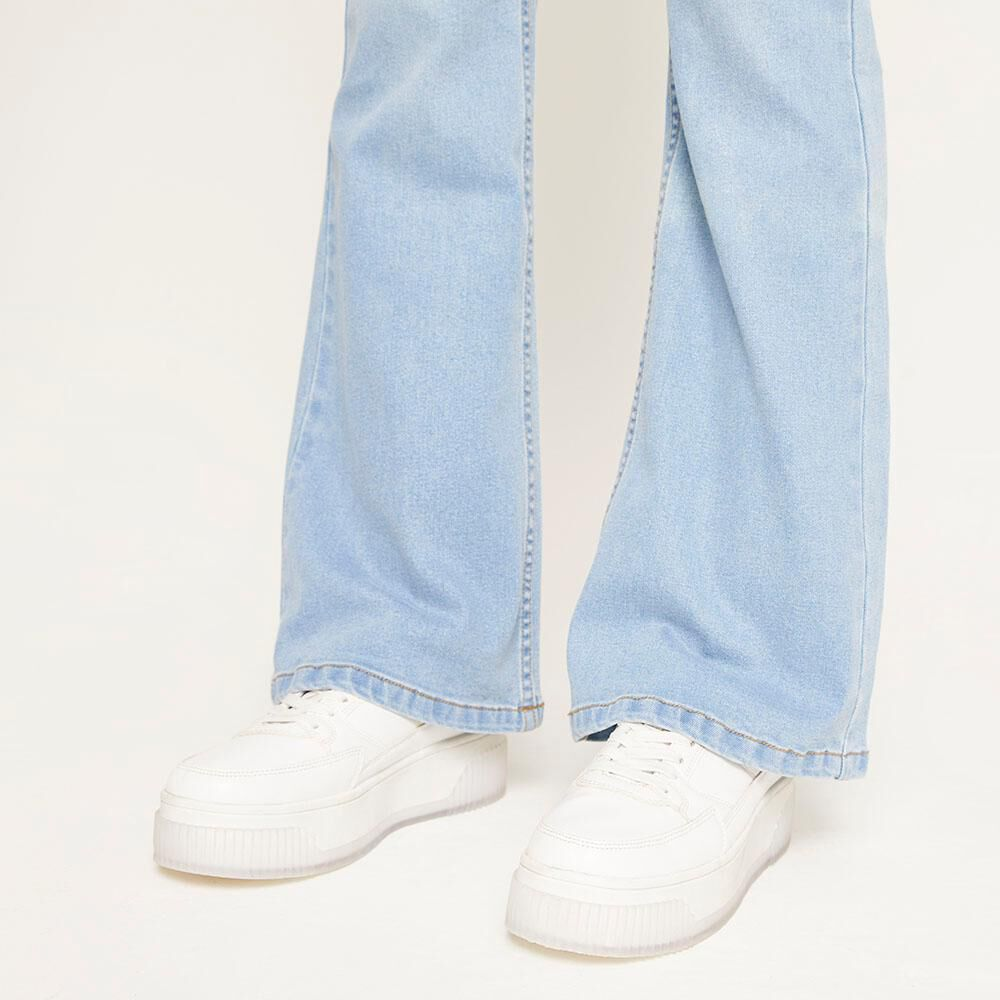 Jeans Tiro Alto Flare Mujer Freedom image number 4.0