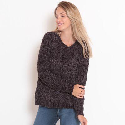 Sweater Tejido Cuello V Mujer Wados
