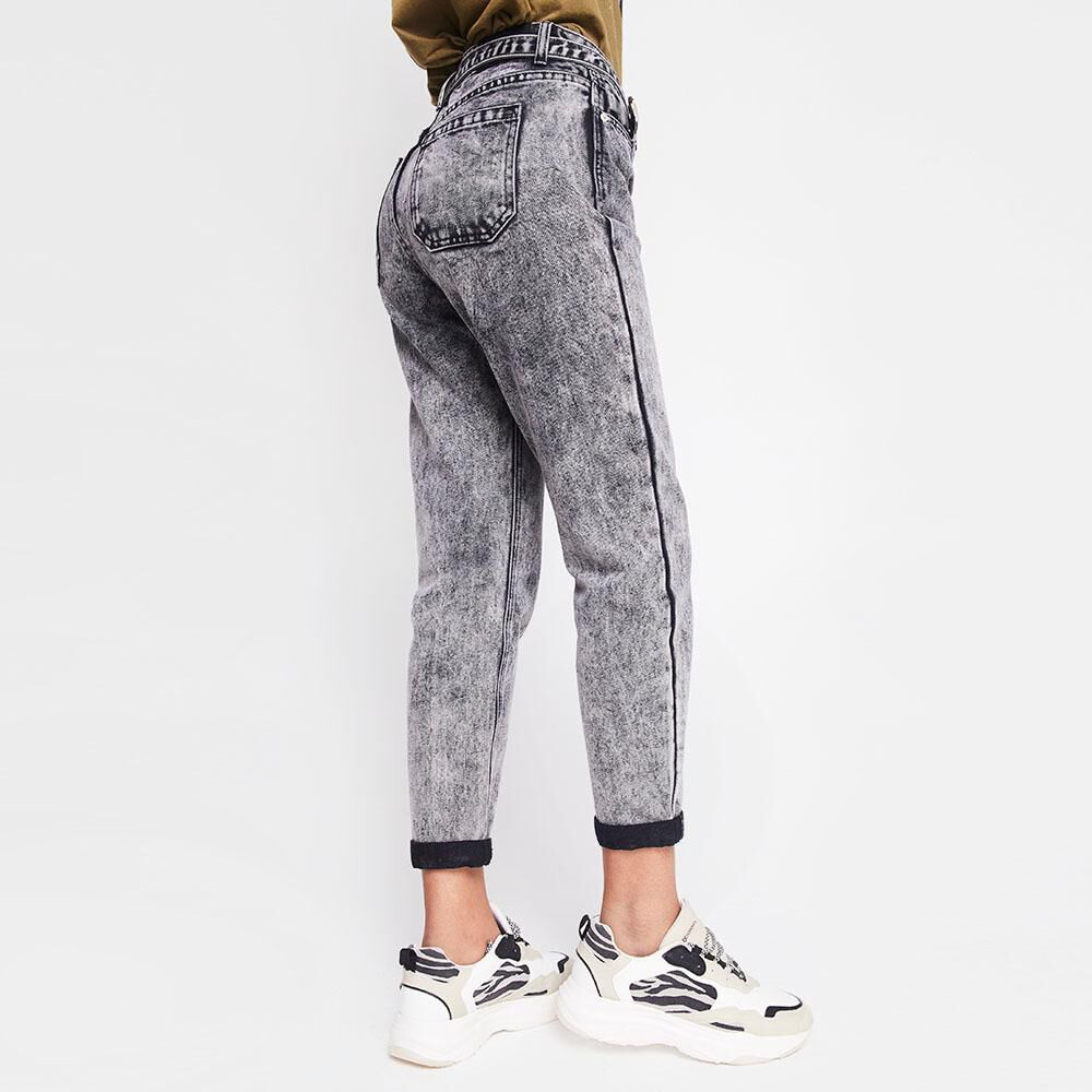Jeans Mujer Tiro Medio Recto Rolly go image number 2.0