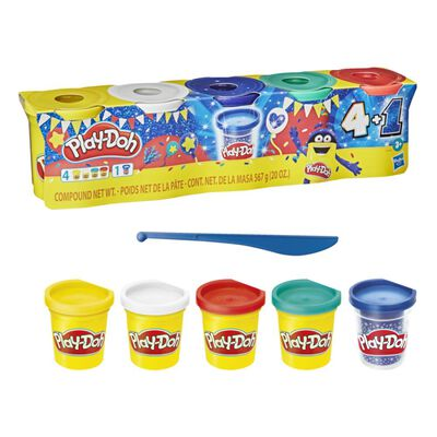 Pack Masas Educativas Play-doh Sapphire Celebration 4+1