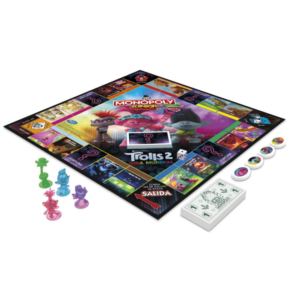 Juegos Familiares Monopoly Jr. Trolls (Movie 2020) image number 1.0
