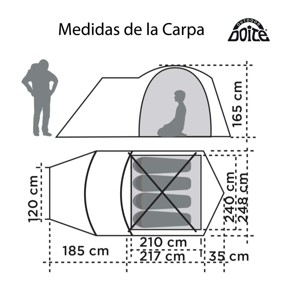 Carpa Doite Licanray Xr / 4 Personas image number 1.0