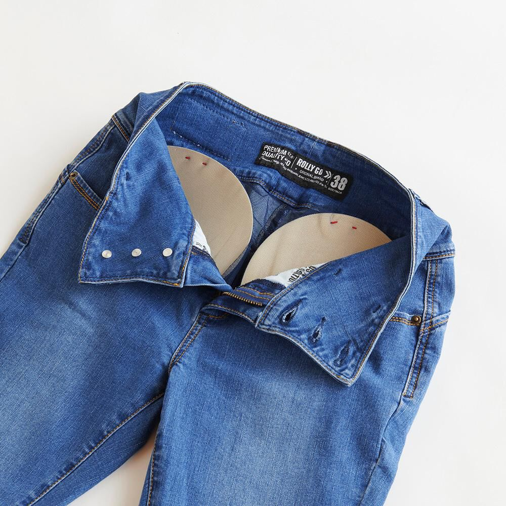 Jeans Almohadillas Tiro Alto Push Up Mujer Rolly Go image number 6.0