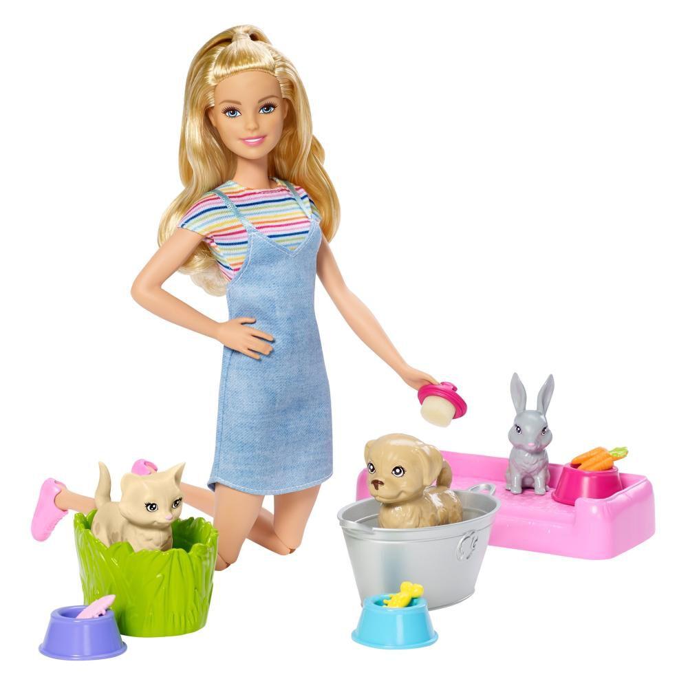 Muñeca Barbie Baño De Perritos image number 1.0