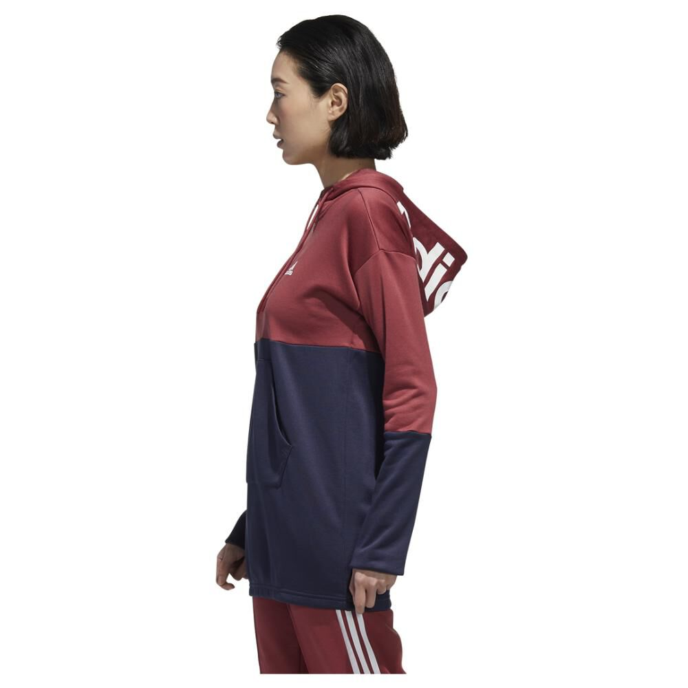 Polerón Deportivo Mujer Adidas Con Capucha image number 1.0