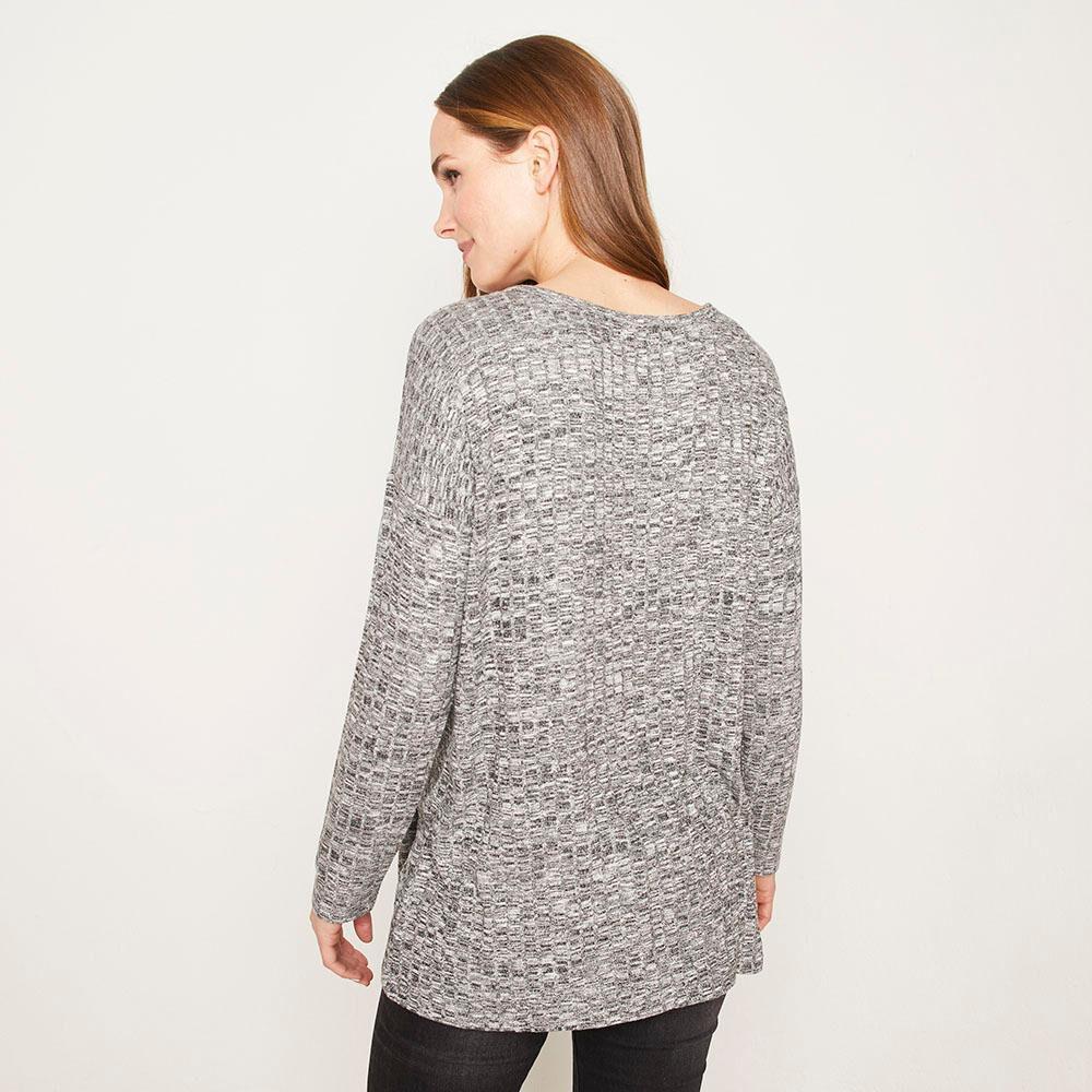 Sweater Melange Canuton Regular Fit Cuello Redondo Mujer Geeps image number 2.0