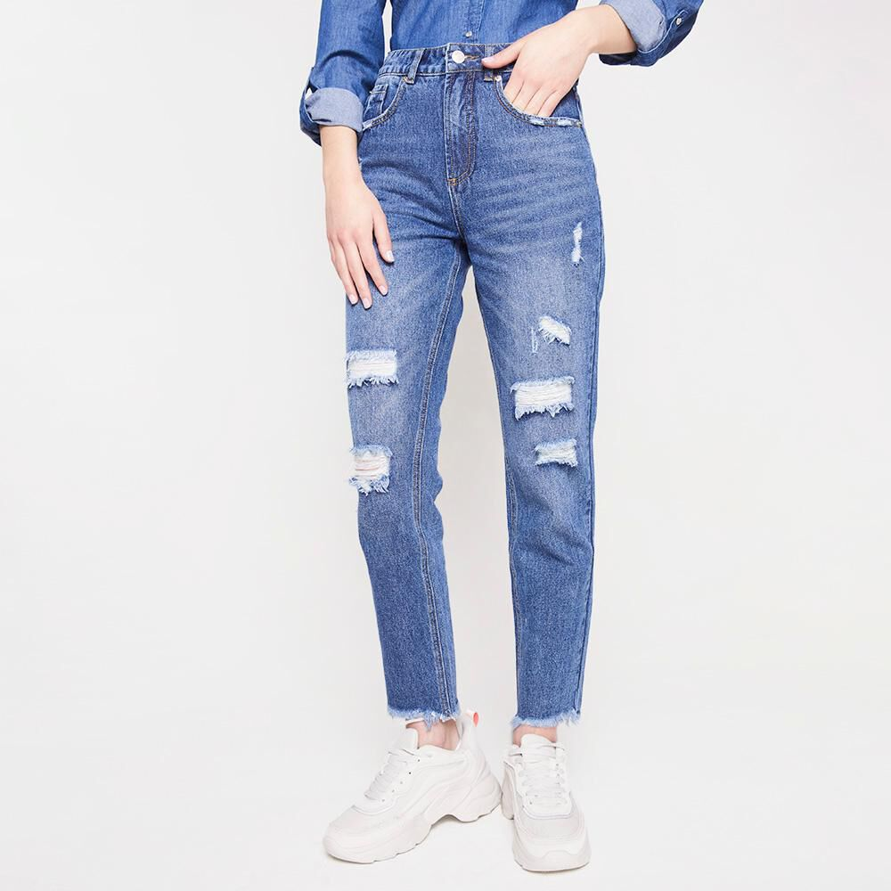 Jeans Mujer Tiro Alto Mom Freedom image number 0.0