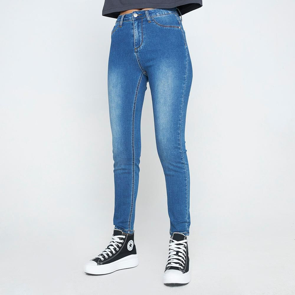Jeans Mujer Tiro Alto Skinny Rolly go image number 0.0