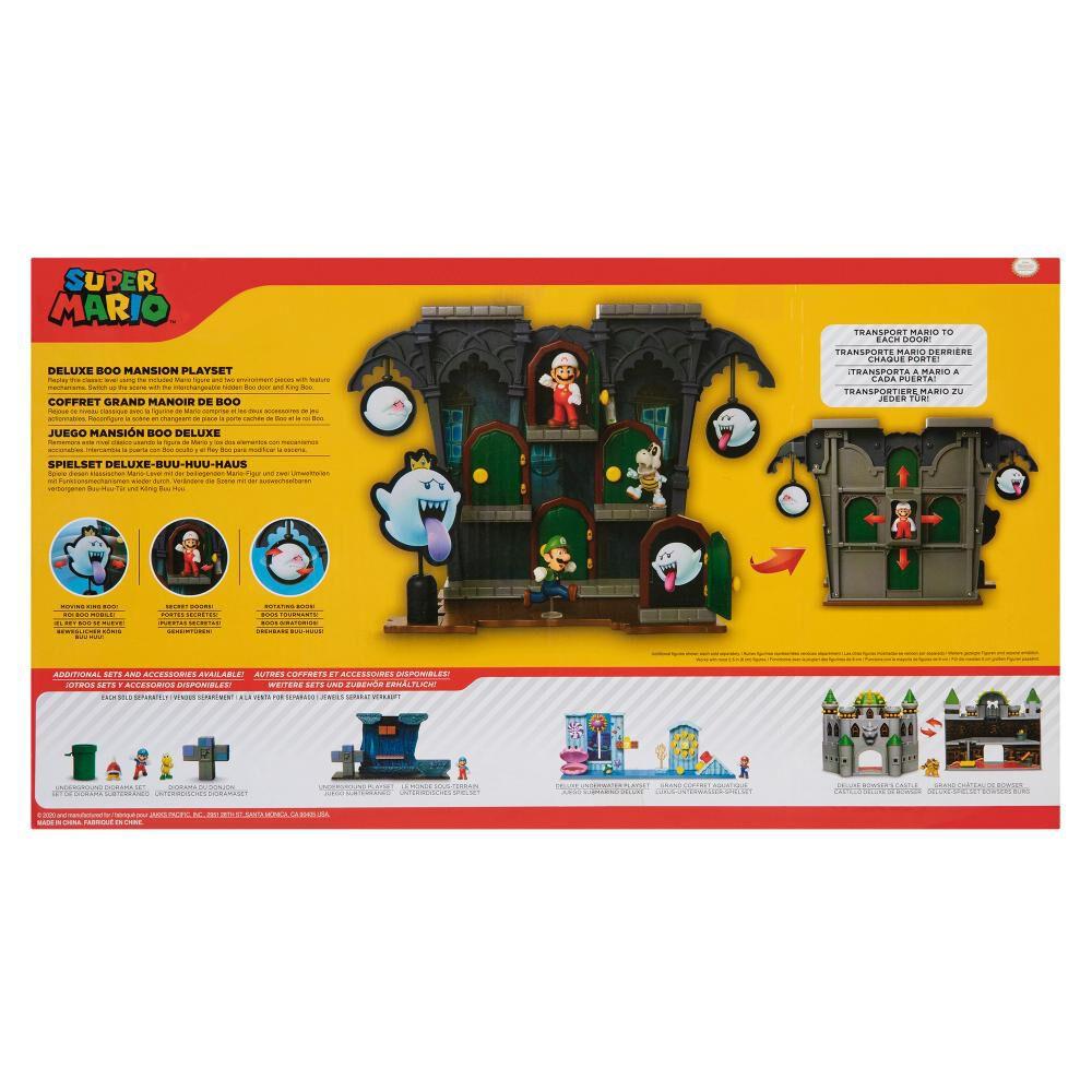 Figura Coleccionable Nintendo Playset Super Mario Dlx Boo Mansion image number 2.0