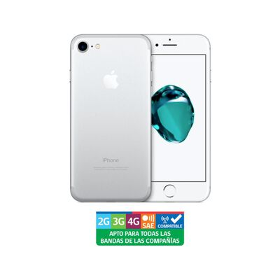 Iphone Apple 7 Plata Reacondicionado / 128 Gb / Liberado