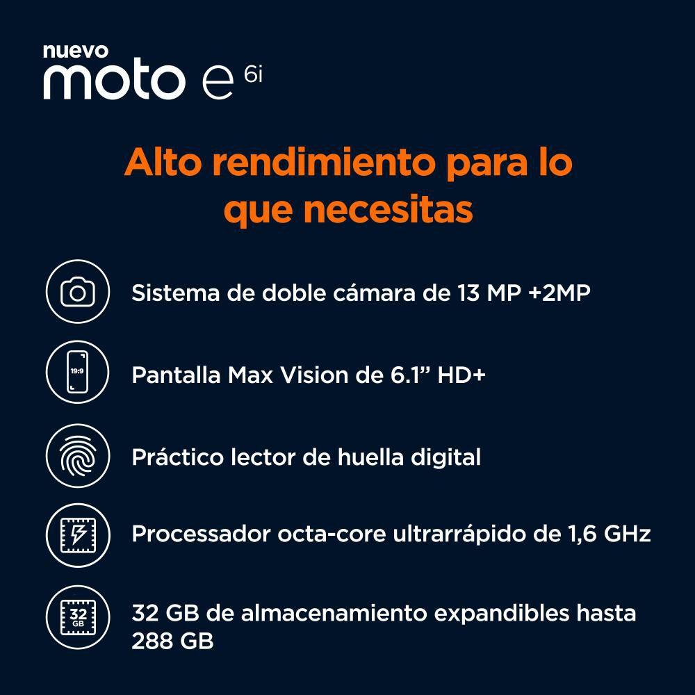 Smartphone Motorola E6i / 32 Gb / Liberado image number 2.0