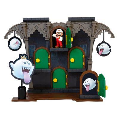 Figura Coleccionable Nintendo Playset Super Mario Dlx Boo Mansion