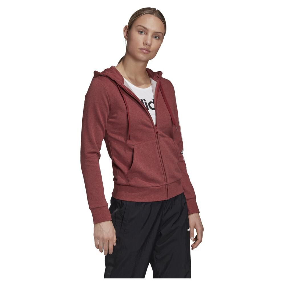Poleron Deportivo Mujer Adidas Essentials Linear Full Zip image number 2.0
