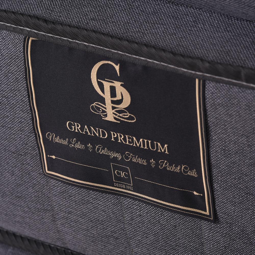 Cama Europea Cic Grand Premium / 2 Plazas / Base Dividida  + Set De Maderas image number 3.0