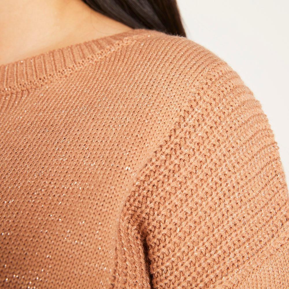 Sweater Lurex Regular Fit Cuello Redondo Mujer Freedom image number 3.0