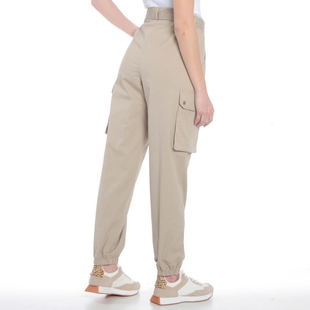 Pantalones Cargo Basta Elasticada Pretina Basica Tiro Alto Mujer Wados image number 3.0