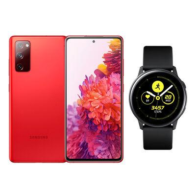 Smartphone Samsung S20fe Rojo + Galaxy Active Black