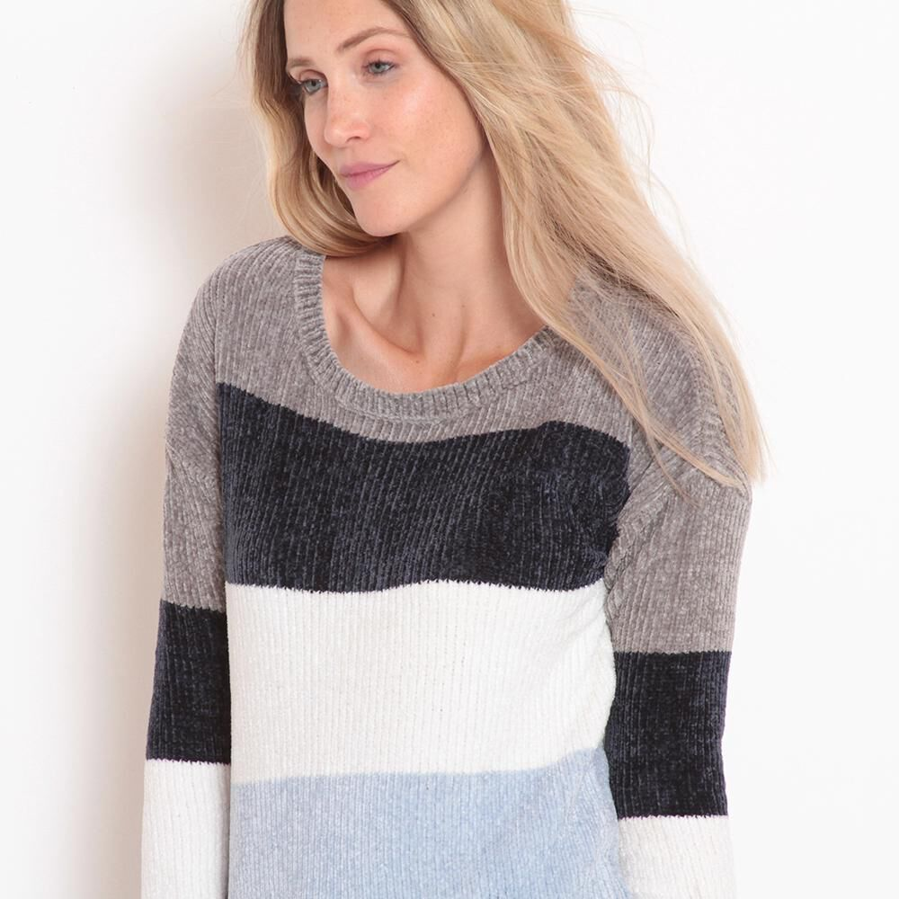 Sweater Chenille Rayas Mujer Wados image number 1.0