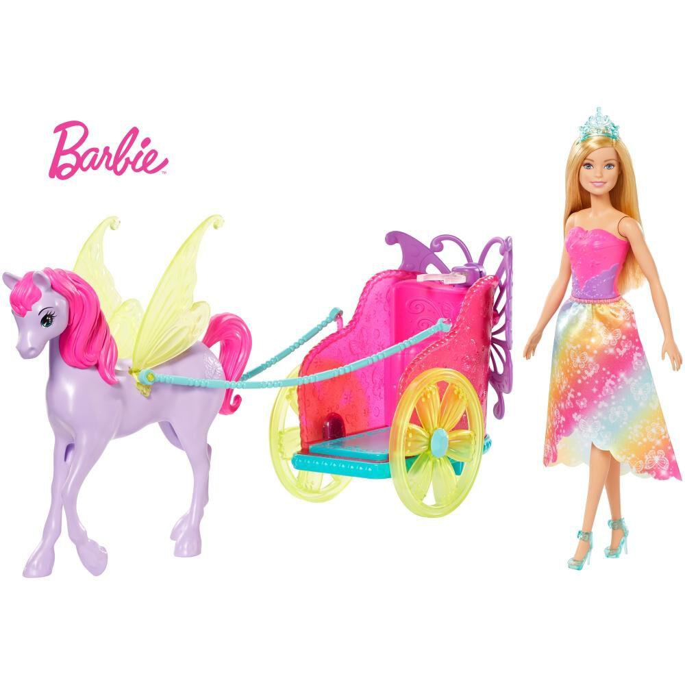 Muñeca Barbie Princesa Con Carruaje image number 0.0