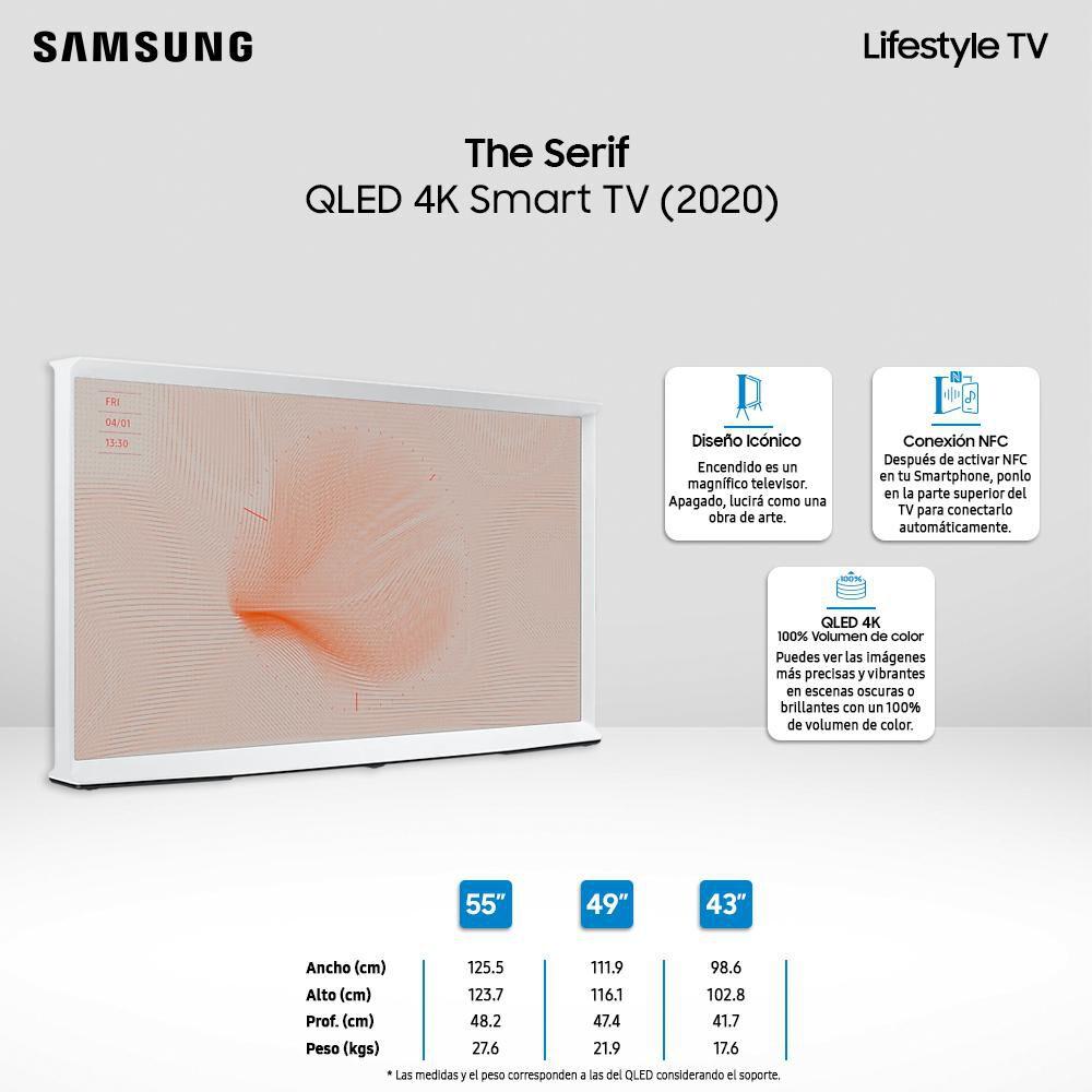 QLED Samsung The Serif / 55'' / Ultra Hd 4k / Smart Tv image number 2.0