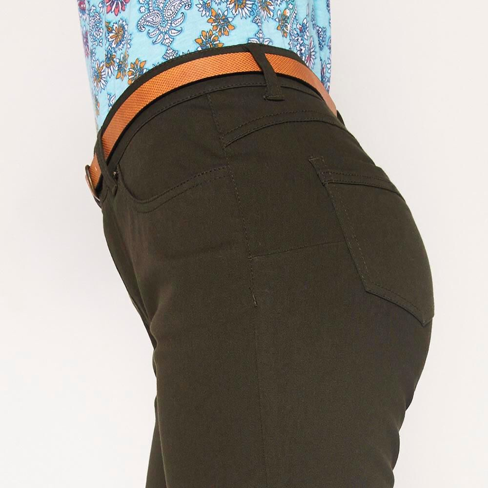 Jeans Recto Con Cinturon Mujer Geeps image number 3.0