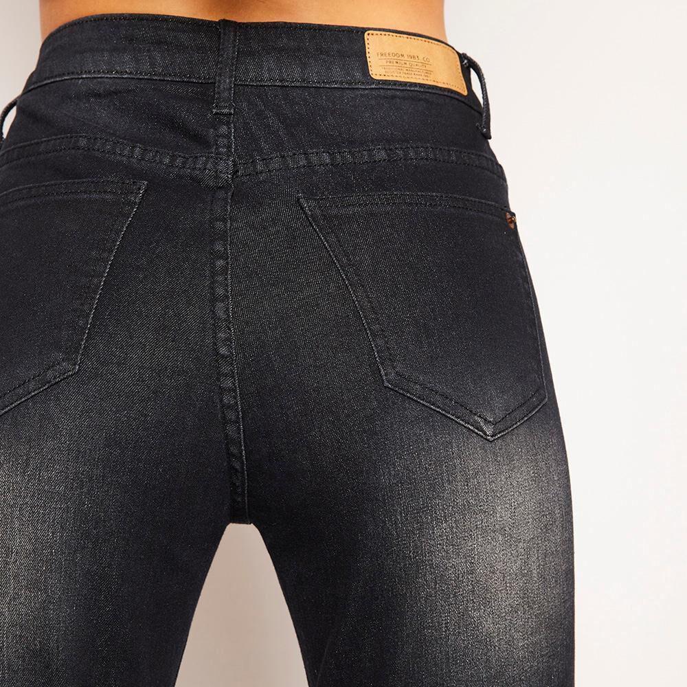 Jeans Rotura Tiro Medio Super Skinny Mujer Freedom image number 4.0