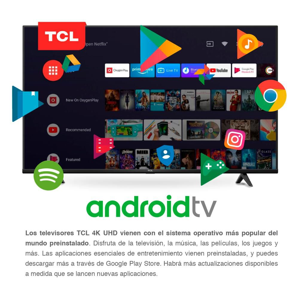 Led Tcl 50p615 Android Tv / 50'' / Ultra Hd / 4k / Smart Tv image number 4.0