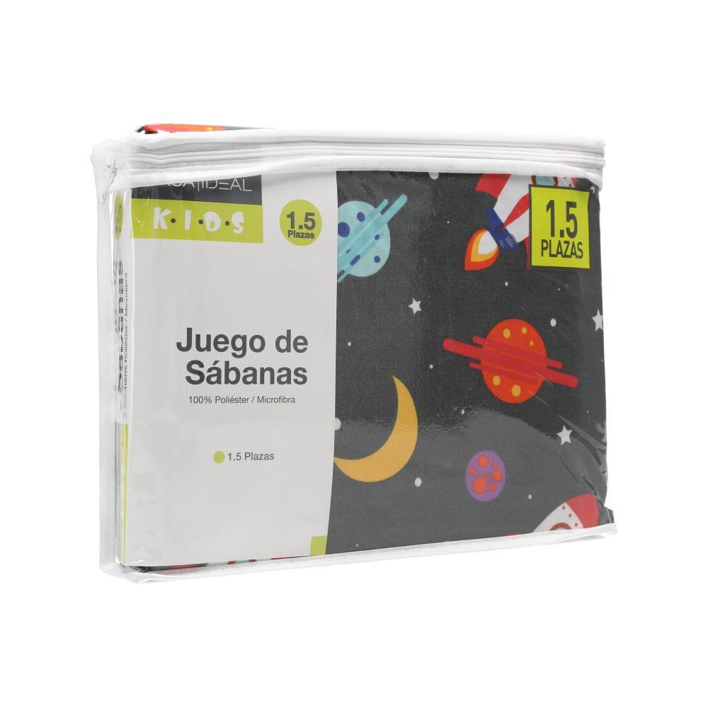 Juego De Sábanas Casaideal Kids Universo / 1.5 Plazas image number 3.0