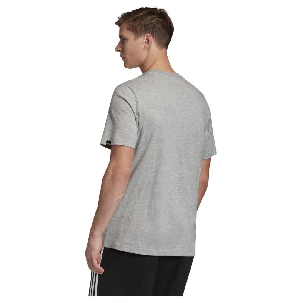 Camiseta Con Logo Texturizado Unisex Adidas image number 3.0