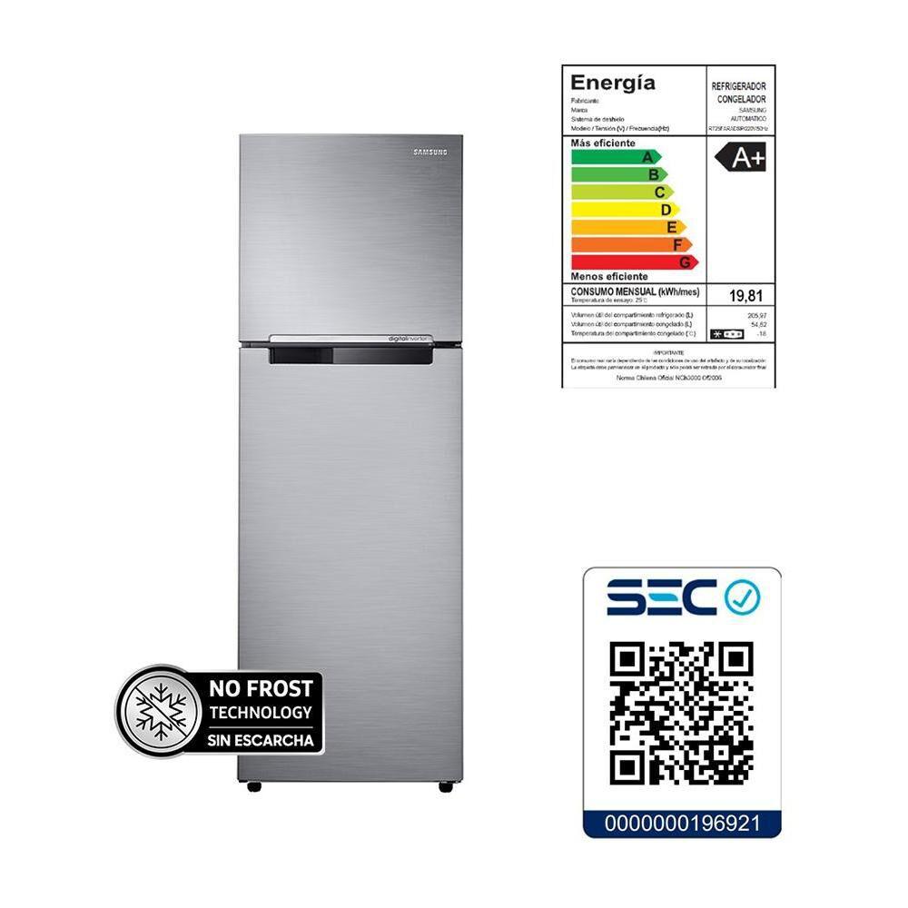 Refrigerador Top Freezer Samsung RT25FARADS8/ZS / No Frost / 255 Litros image number 7.0