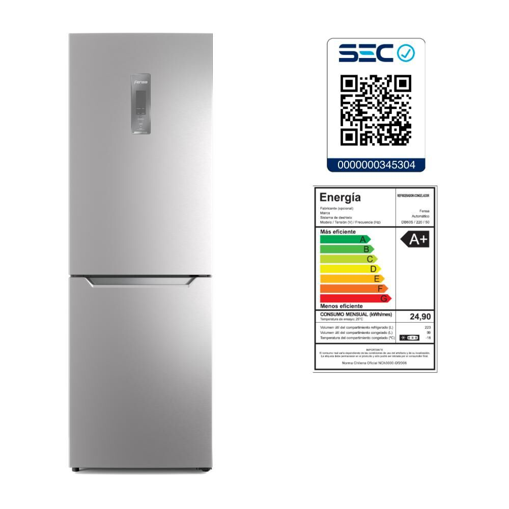 Refrigerador Fensa Db60s / No Frost / 322 Litros image number 1.0