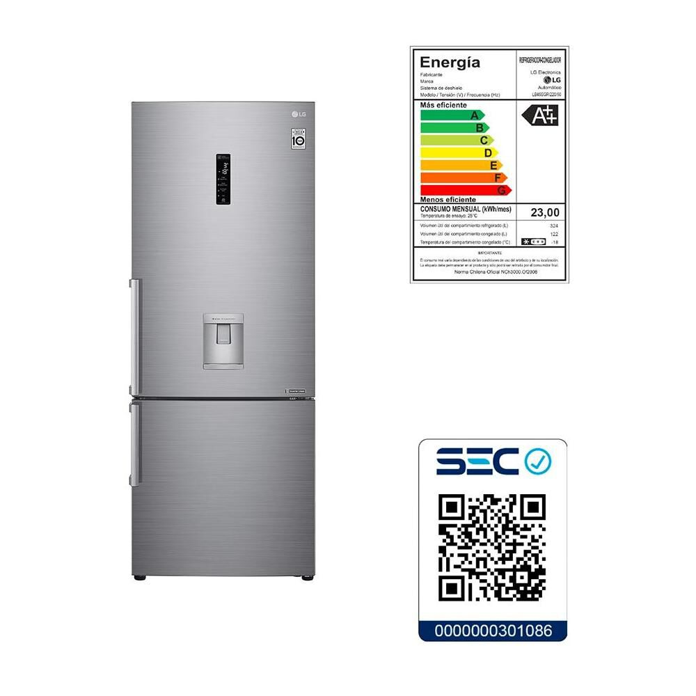 Refrigerador Bottom Freezer LG LB45SGP / No Frost / 442 Litros image number 14.0
