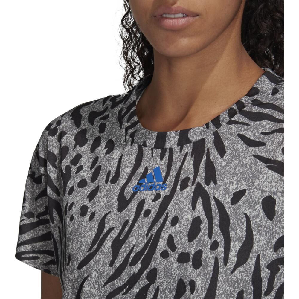 Camiseta Mujer Adidas Allover Print image number 4.0