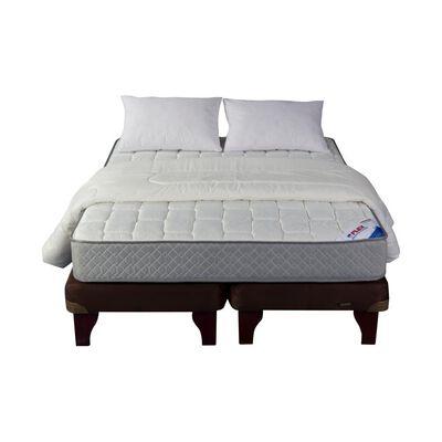 Cama Europea Flex Therapedic / King / Base Dividida  + Textil